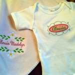 Embroidered Onesie and Cloth