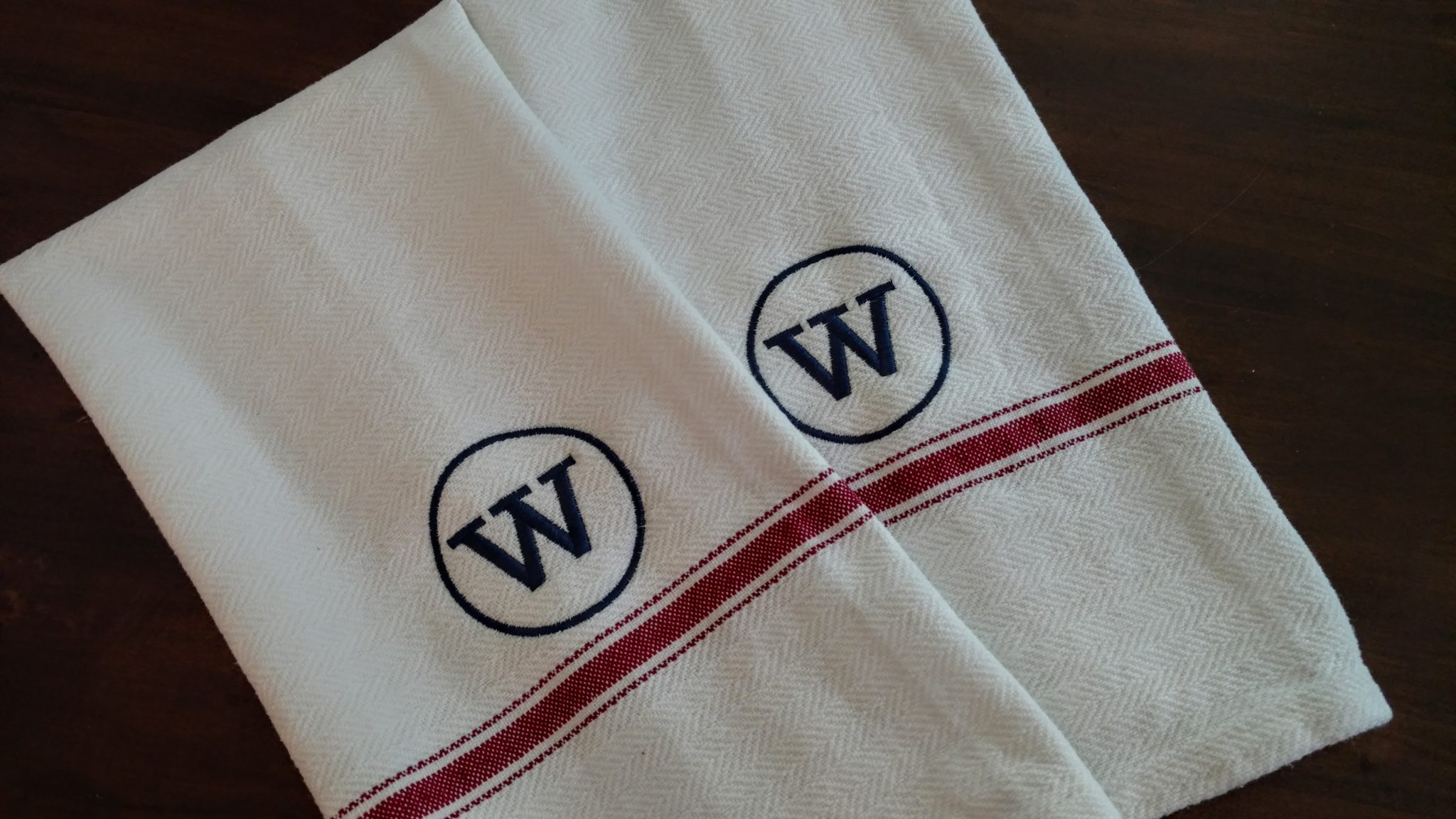 Monogrammed Kitchen Towels